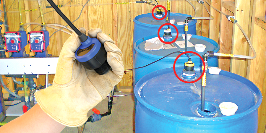 Municipal Chemical Feed Tank Liquid Level Sensor