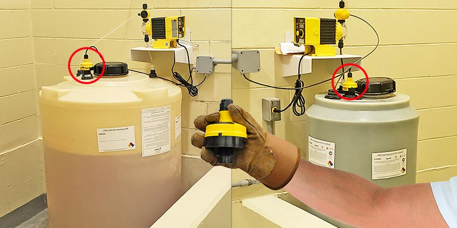 Municipal Chemical Feed Tank Ultrasonic Liquid Level Sensor