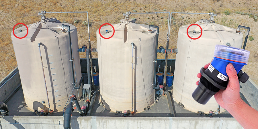 Landfill Remediation Tank Ultrasonic Level Measurement