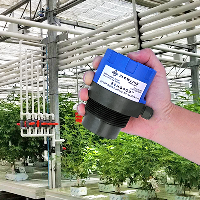 Cannabis Fertigation Tank Ultrasonic Liquid Level Transmitter