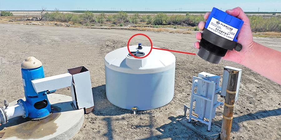 AG Fertigation Chemical Tank Ultrasonic Level Measurement