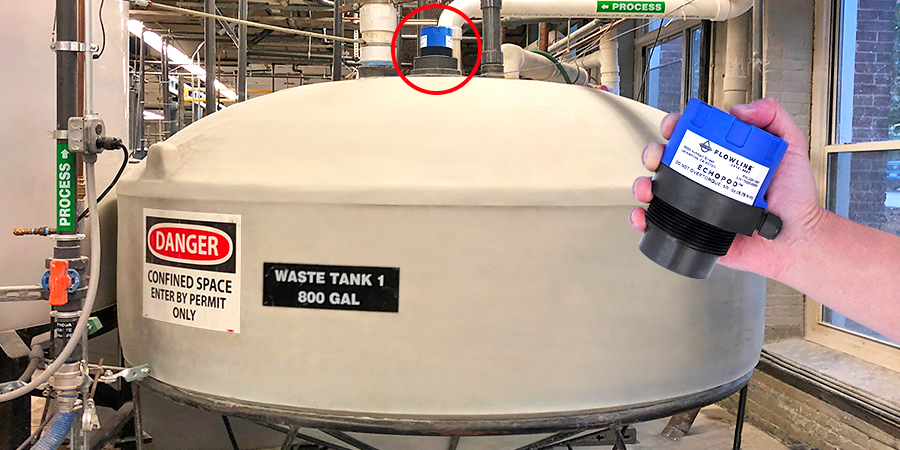 Industrial Wastewater Tank Ultrasonic Liquid Level Sensor