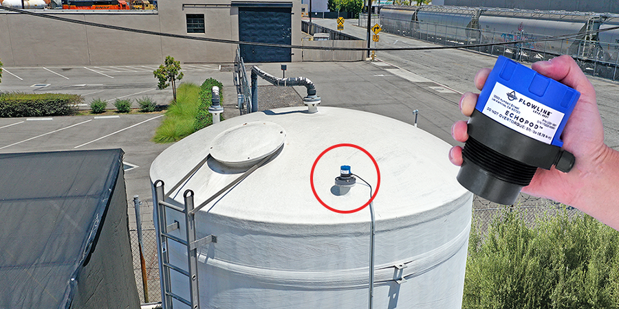 Coffee Wastewater Bulk Tank Ultrasonic Liquid Level Sensor
