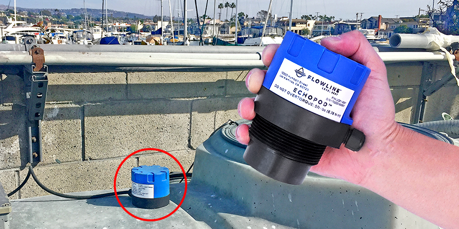 Shipyard Wastewater Storage Tank Ultrasonic Level Sensor