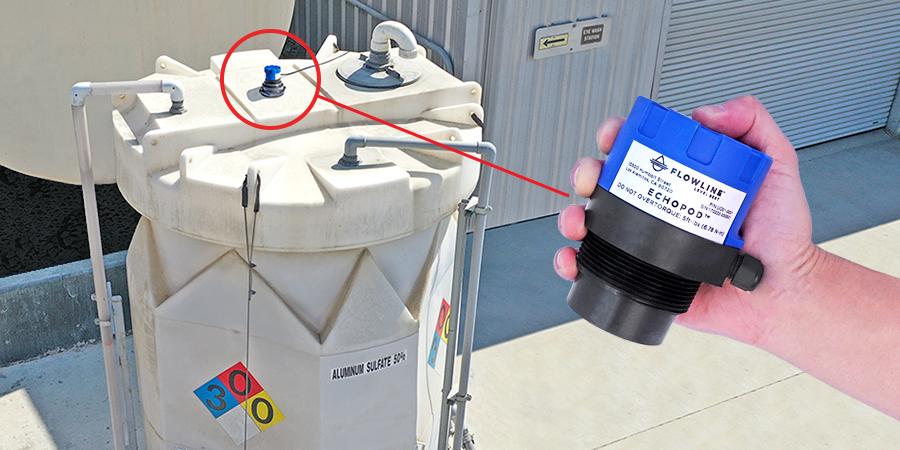 Aluminum Sulfate Bulk Tank Ultrasonic Level Measurement