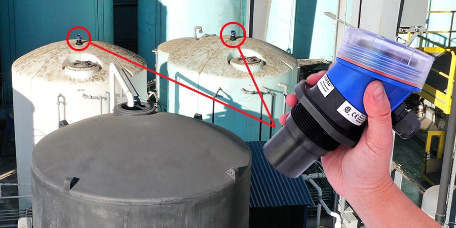 Heavy Equipment Wash Tank Ultrasonic Liquid Level Sensor