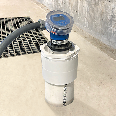 Chemical Tank and Clear Well Ultrasonic Liquid Level Transmitter