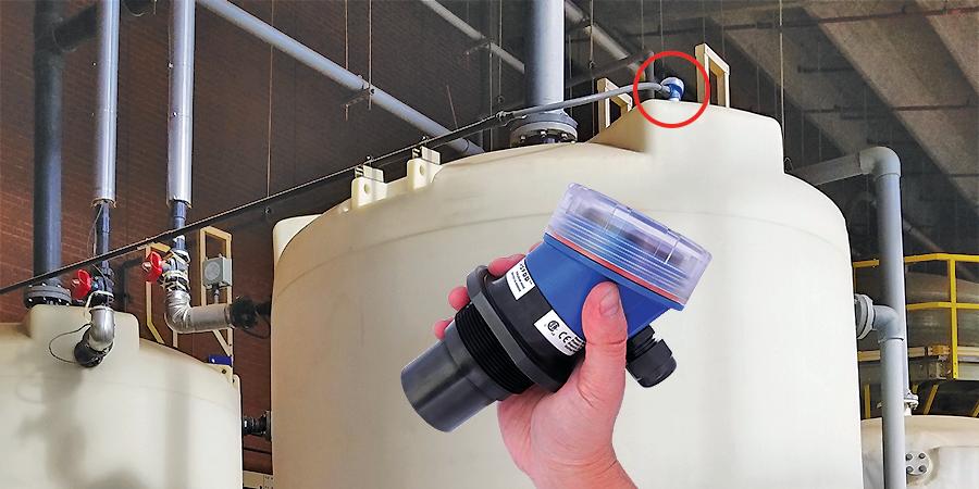 Chemical Tank and Clear Well Ultrasonic Liquid Level Sensor