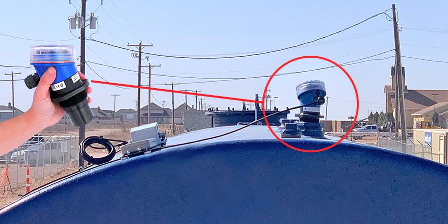 Diesel Remote Tank Monitoring Ultrasonic Liquid Level Sensor