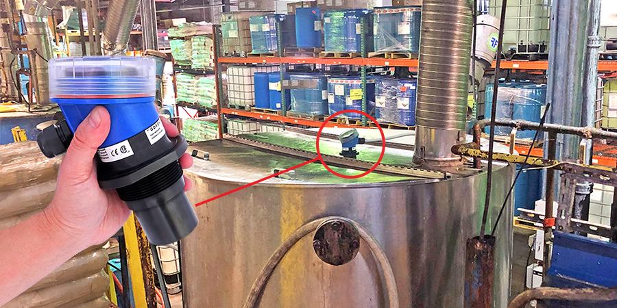 Chemical Batch Mix Tank Ultrasonic Level Measurement