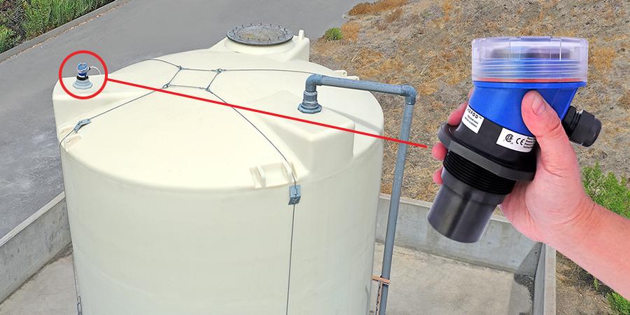 Greywater Bulk Storage Tank Ultrasonic Level Measurement