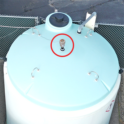 Bleach Chemical Storage Tank Liquid Level Transmitter