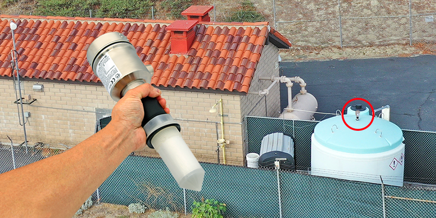 Bleach Chemical Storage Tank Liquid Level Sensor