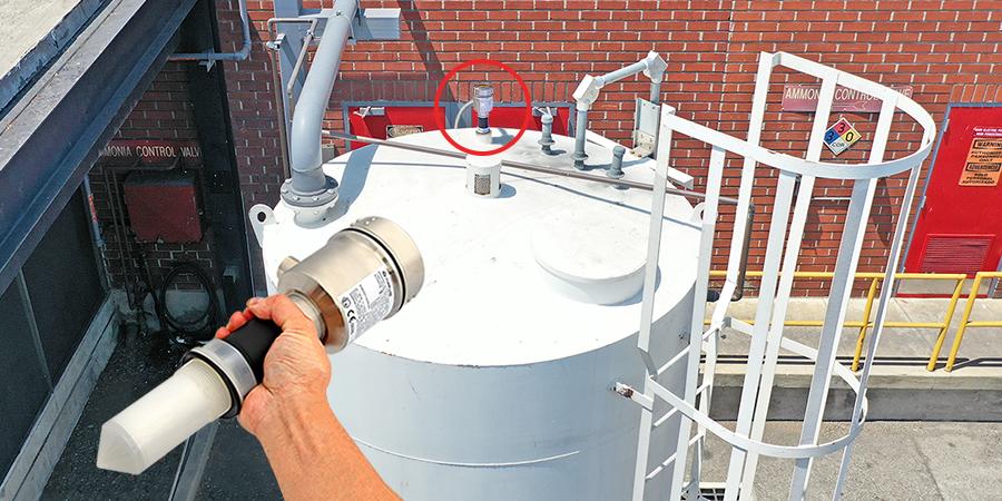 Ammonia Gas Diffusion Tank Radar Level Measurement