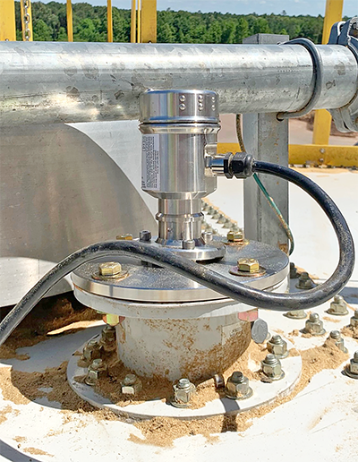Wood Chip and Pellet Silo Solids Level Sensor