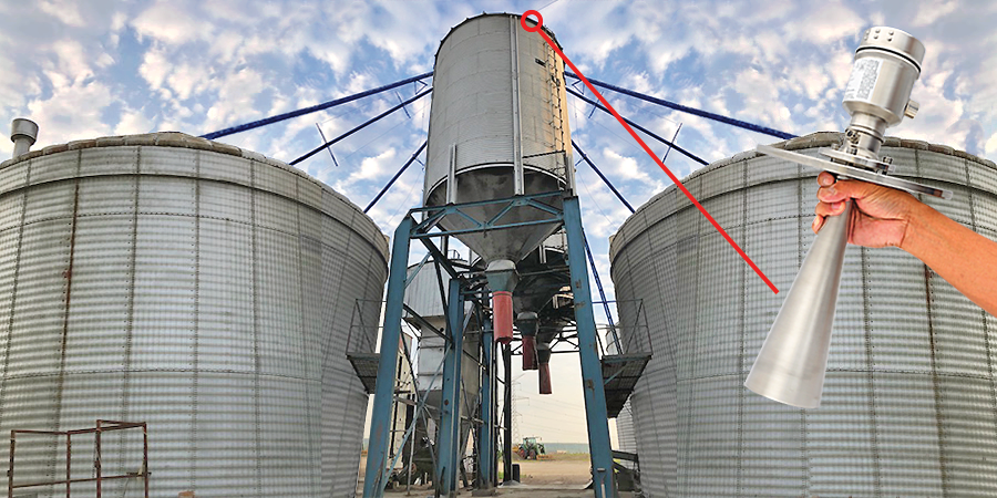 Grain Truck Loading Silo Radar Level Transmitter