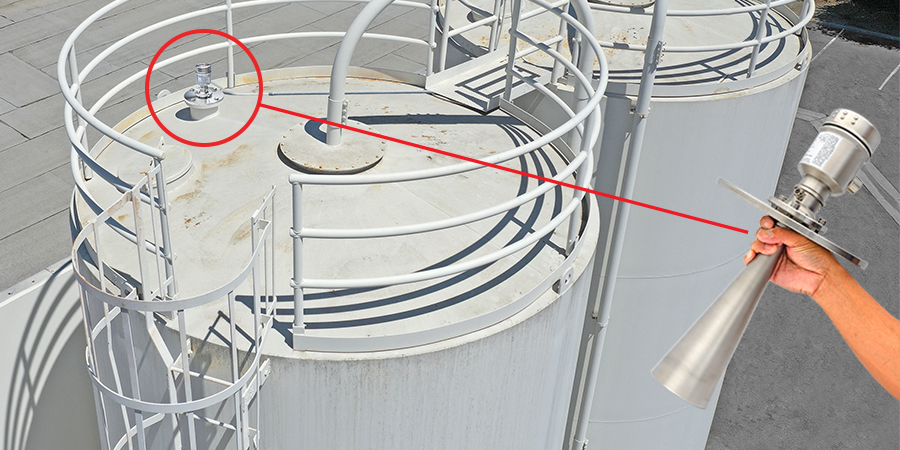 Plastic Pellet Silo and Bin Radar Level Measurement