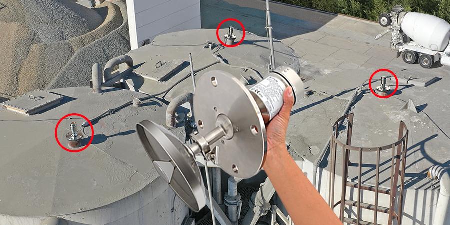 Cement Batch Mix Plant Silo Radar Level Transmitter