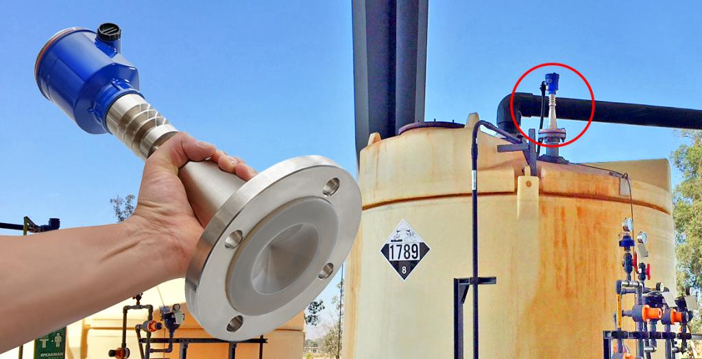 Hydrochloric Acid Bulk Tank Radar Level Transmitter