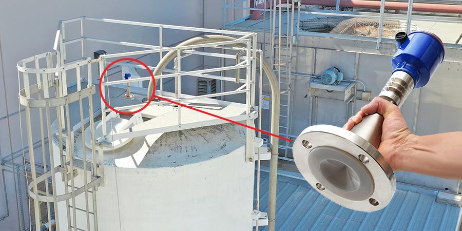 Sodium Hypochlorite Tank Radar Liquid Level Sensor