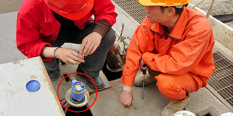 Oil Field Mud Separator Tank Ultrasonic Level Sensor