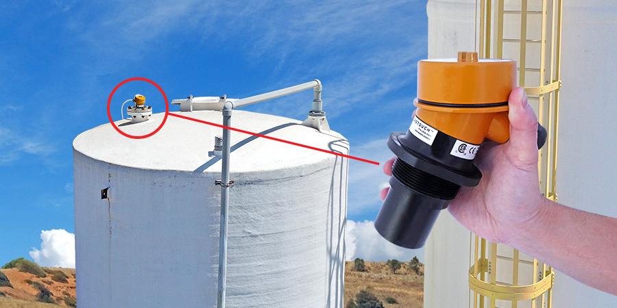 Fracturing Acid Bulk Tank Ultrasonic Level Measurement