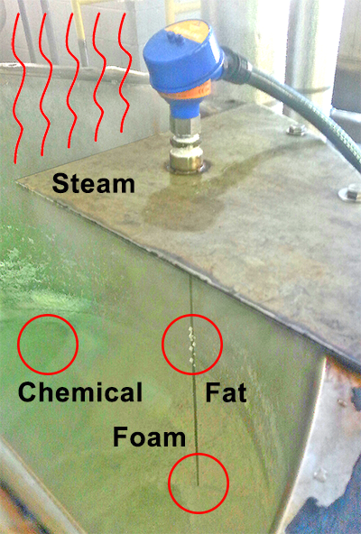 Steam and Foam Wastewater Liquid Level Sensor