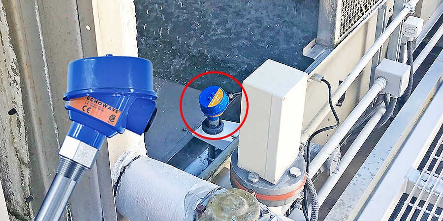 Hospital Cooling Tower Basin Guided Wave Level Sensor
