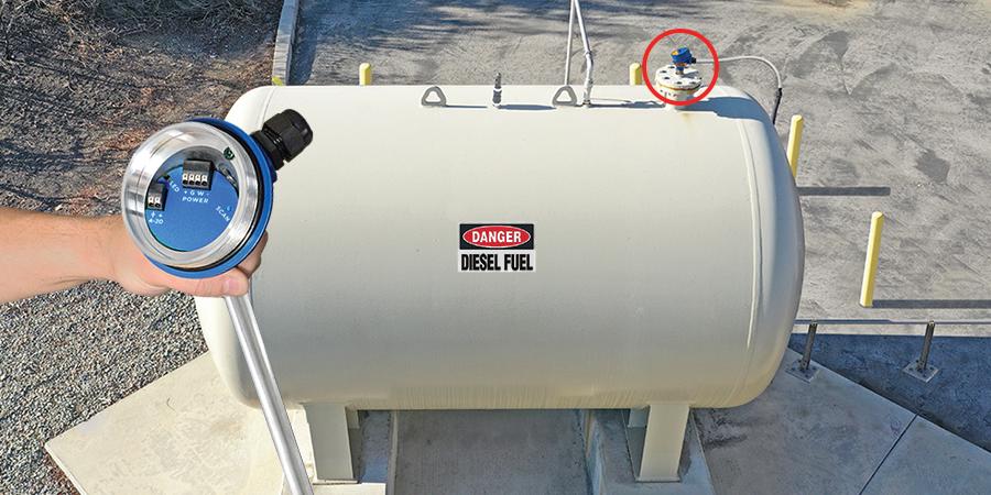 School Diesel Generator Tank Guided Wave Level Measurement