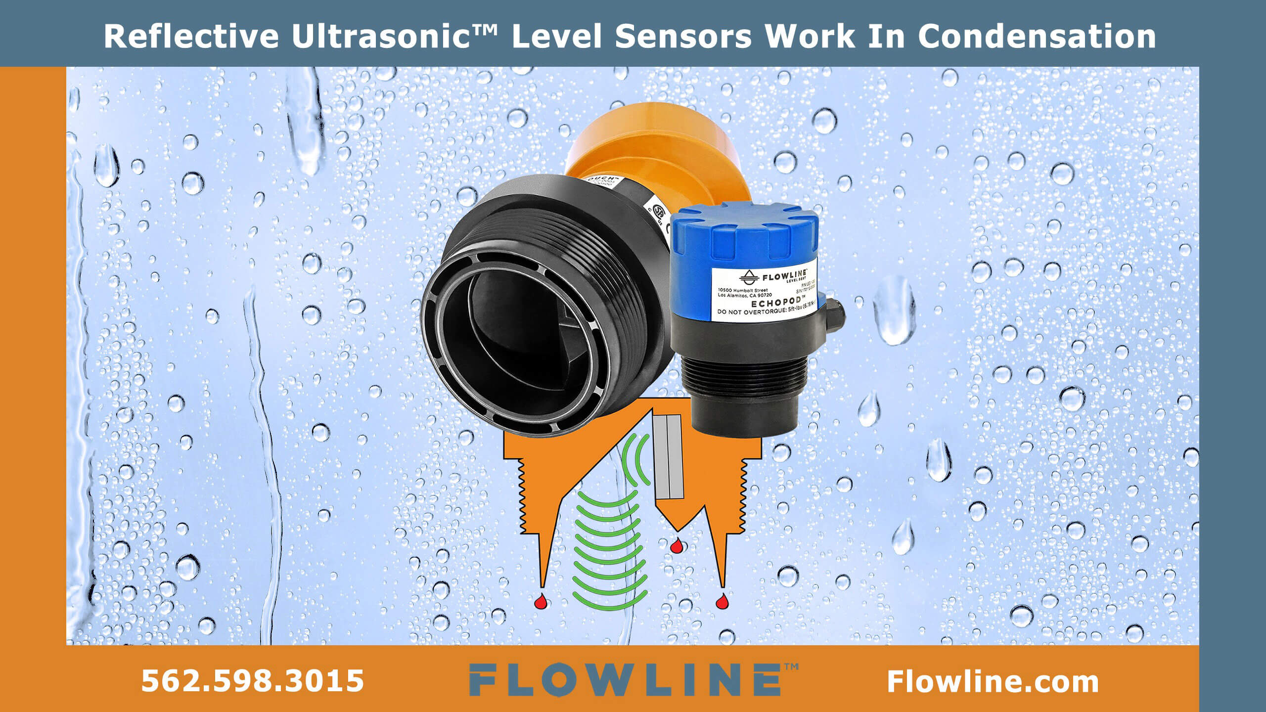 Reflective-Ultrasonic-Sensors-Provide-Reliable-Level-Measurement-In-Condensing-Environments Flowline Inc.
