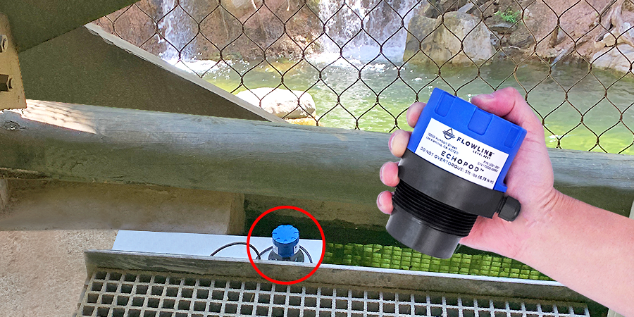 Tiger Exhibit Water Pool Ultrasonic Level Sensor