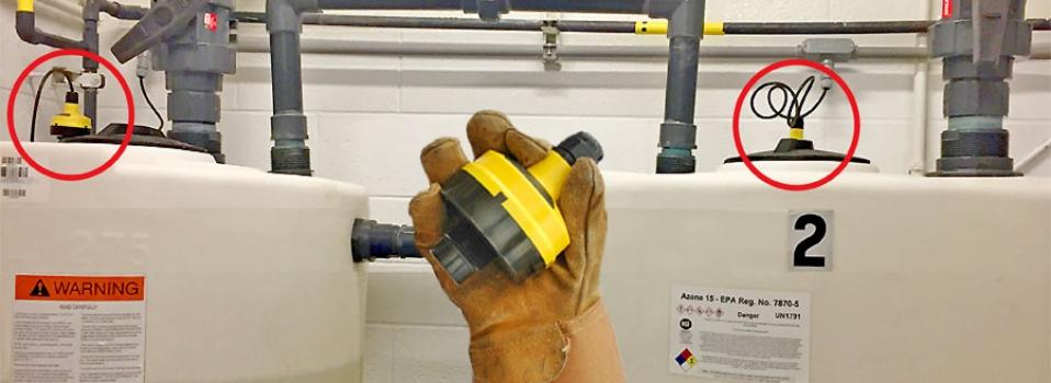 Municipal Bleach Day Tank Liquid Level Sensor